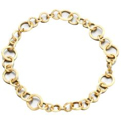 Marco Bicego Jaipur Link 18K Yellow Gold Necklace ($8,650) ❤ liked on Polyvore featuring jewelry, necklaces, apparel & accessories, gold, 18k jewelry, marco bicego necklace, 18k gold necklace, yellow gold jewelry and 18 karat gold necklace