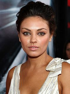 Mila Kunis, she makes me want to wear eye liner every day. Then I will look like her, right?