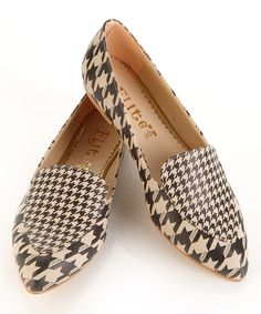 Look at this Black & White Houndstooth Loafer on #zulily today!
