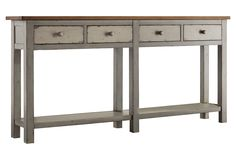 """Macy 72"""" Hall Console, Gray/Pecan 