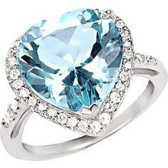 7-2/5 Carat T.G.W. Sky Blue Topaz Ring in Sterling Silver