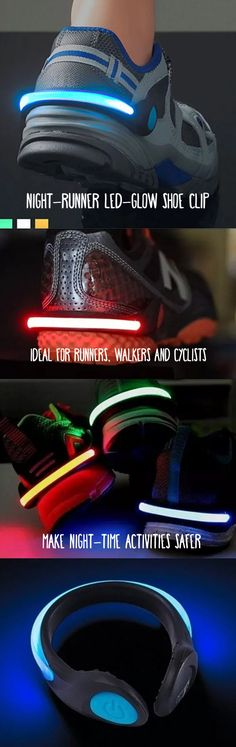 For a limited time, Buy one, Get one on LED Glow Shoe clips! To receive your BOGO, simply choose your color under the Color swatch and then choose your BOGO color. Our LED Shoe Clip Light acts as a warning signal to others in the evening. Ideal for runners, walkers and cyclists, it provides either a constant or flashing ultra bright LED that is visible at up to half a mile. It clips horizontally to the heel of shoes and will fit any size shoe with a heel width of 2 to 3.5 inches.
