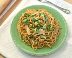Quick Roasted Garlic Pasta with Olive Oil and Parmesan