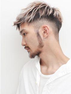 Short Dyed Hair, Dyed Hair Men, Dyed Hair Purple, Long Messy Hair, Asian Men Hairstyle, Asian Hair, Hairstyles Haircuts, Haircuts For Men, Hair And Beard Styles