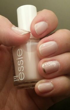 Essie vanity fairest/ China Glaze warm baby /Konad m2