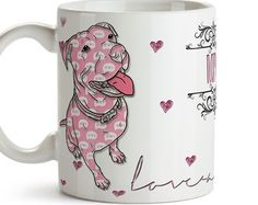 Pitbull Love-a-Bull Funny Coffee Mug Free Shipping Dog Lover Funny Coffee Mugs, Dog Coffee, Huge Dogs, Pit Bull Love, Pitbull Terrier, Custom Mugs, Dogs And Puppies, Doggies, Getting Old