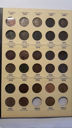 38 Indian head cents starter collection in library of coins