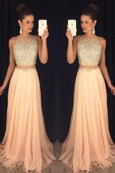 Pretty Chiffon Beading Prom Dress, Two Pieces Prom Dresses,Long Prom Dresses For Teens,A-line Prom Gowns,Elegant Party Dresses Navy Blue Prom Dresses, Prom Dresses 2016, Prom Dresses For Teens, Women's Evening Dresses, Bridesmaid Dresses, Gowns 2017, Banquet Dresses, Formal Dresses, Prom Gowns Elegant
