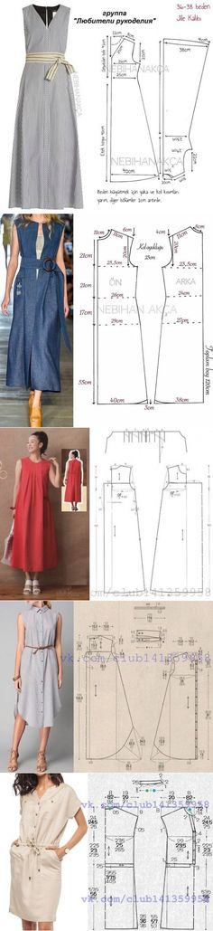 Sewing simple patterns - Helpful tips for housewives Dress Sewing Patterns, Blouse Patterns, Sewing Patterns Free, Clothing Patterns, Fabric Sewing, Skirt Patterns, Sewing Pants, Sewing Clothes, Diy Clothes