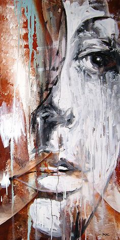 Breathless,Fine Artist Portrait Painting, Artist Study with thanks to Artist Danny O' Connor