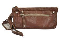 Cowboysbag Kosmetiktäschchen/Clutch DOUGLAS echtes Leder Taupe Marken Cowboysbelt