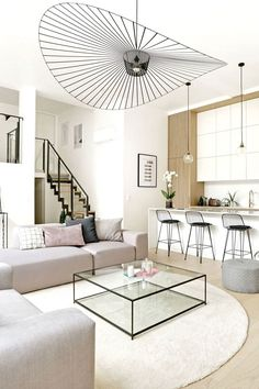 An old factory is being reinvented in the loft family to la garenne colombes - house side. Room Interior, Interior Design Living Room, Living Room Designs, Home Living Room, Living Room Decor, Home Room Design, Living Room Inspiration, House Rooms, Room Decor Bedroom