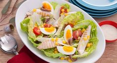 Help us settle the Caesar Salad debate - anchovies or no anchovies? Lunch Recipes, My Recipes, Salad Recipes, Cooking Recipes, Recipies, Ceasar Salad, Chicken Caesar Salad, Chargrilled Chicken, Aussie Food