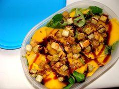 zdrowe śniadanie do pracy cz. 11 Salad Recipes, Salads, Pork, Ethnic Recipes, Sweet, Kale Stir Fry, Candy, Pork Chops, Salad
