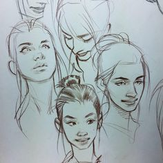Fantasting Drawing Hairstyles For Characters Ideas. Amazing Drawing Hairstyles For Characters Ideas. Character Sketches, Character Drawing, Art Sketches, Art Drawings, Pretty Art, Cute Art, Old Illustrations, Drawn Art, Face Sketch