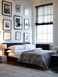 I know I've posted this before, but the room is so striking. And the bedding is pulled together without looking fussy. Comfy and elegant.