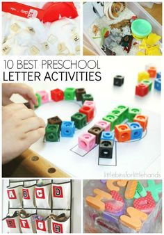 10 Back to School Preschool Letter Activities for letter recognition, letter sounds and alphabet play! Combine science, sensory play and fine motor skills for simple and fun preschool letter activities.