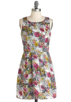 mismatched floral bridesmaid dresses-- Charcoal Class Dress, #ModCloth