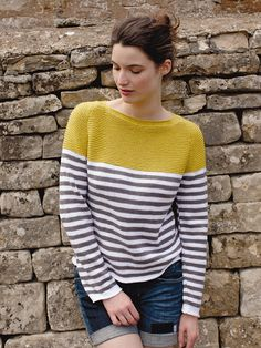 Cornwallis - Knit this relaxed ladies sweater from the Summerlite DK collection. Designed by Martin Storey it features raglan sleeves and simple stripe colourwork making it suitable for the less experienced knitter.