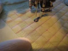 Free Motion Quilting: Grid Based Design, a checkerboard.