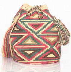 AUTHENTIC HANDMADE WAYUU MOCHILA BAGS | WOVEN BY THE INDIGENOUS WAYUU TRIBE OF SOUTH AMERICA 100% COTTON. www.wayuutribe.com $108.00 #BeachBag #Desertstlyle #wayuutribe #surf #shoulderbag