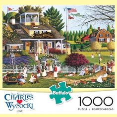 e63c023cbef75 Charles Wysocki Love 1000 Piece Jigsaw Puzzle by Buffalo Games Perfect Snap