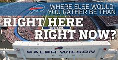 Your Bills take on the Chiefs in their home opener at 1pm at Ralph Wilson Stadium. Where else would you rather be than right here, right now?? Let's go Buffalo!