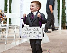 Wedding Sign Here Comes The Love Of Your Life by SignSimplicity