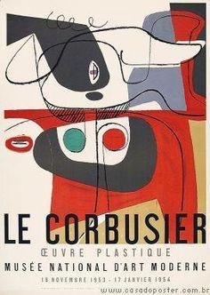 peinture abstraite : affiche d'exposition, Le Corbusier
