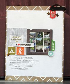 Elizabeth McCarney | using camping printables from ShopStudioPebbles on Etsy! <3<3<3 LOOVE IT!!