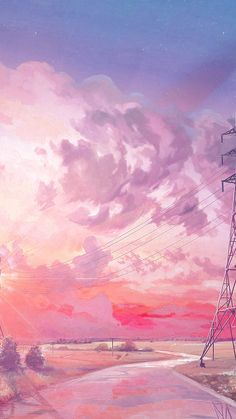 Ideas wall paper iphone art pink for 2019 Wallpaper Para Iphone 6, Sunset Wallpaper, Anime Scenery Wallpaper, Landscape Wallpaper, Aesthetic Pastel Wallpaper, Kawaii Wallpaper, Pink Aesthetic, Aesthetic Anime, Aesthetic Wallpapers