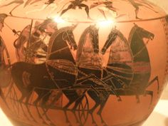 Attic Black-figure Hydria with chariot and charioteer; attributed to the Affector, ca. 530 B.C.; from the collection of the Joslyn Art Museum in Omaha, NE