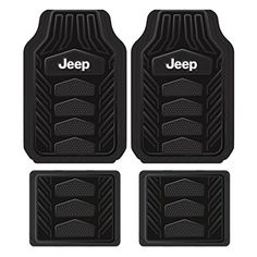Plasticolor 001668R01 Weatherpro Black One Size Jeep Logo Car Truck SUV Heavy Duty Rubber, 4 Piece Front and Rear Floor Mat Set. For product info go to:  caraccessoriesonl...