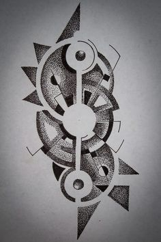 Dotwork (tatoo) by Mi-KL Geometric Mandala Tattoo, Geometric Tattoo Design, Mandala Tattoo Design, Geometric Art, Dot Work Mandala, Dotwork Tattoo Mandala, Electronic Tattoo, Stippling Art, Muster Tattoos