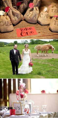 Coffee and tea DIY wedding favors crafty pink DIY centerpieces - by Ingman Photography: I LOVE this idea for favors!!!!