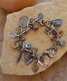 Rustic Taos Charm Bracelet Antique and Vintage by DesertTalismans
