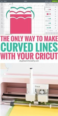 Learn how to make Curved Lines with your Cricut Maker or Explore Air. Learn how to make Curved Cricut Craft Room, Cricut Vinyl, Cricut Air 2, Cricut Help, Mason Jar Crafts, Mason Jar Diy, Crafts To Make And Sell, Diy And Crafts, Sell Diy