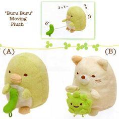 """San-X Sumikko Gurashi """"Things in the Corner"""" Buru Buru Moving Plush Sets"""