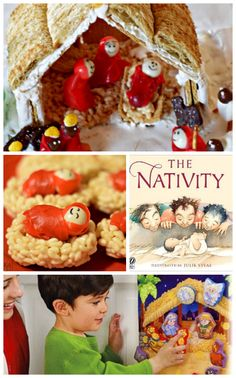 Skip the gingerbread house this year and create a rice krispie Nativity scene!