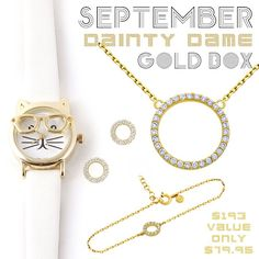 *September Dainty Dame Gold Box