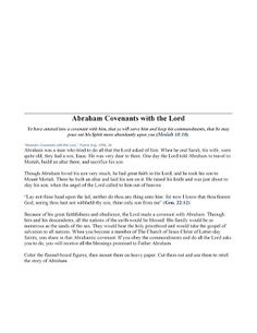 Chocolate on my Cranium: Abraham Covenants With The Lord