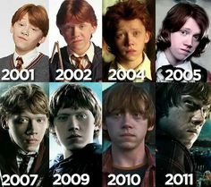 Ron Weasley through the years ...