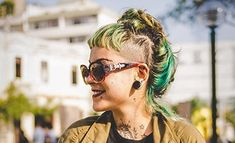 Did you know there were different types of piercings? Dermal, surface, and regul. - Did you know there were different types of piercings? Dermal, surface, and regular piercings are al - Different Types Of Piercings, Round Sunglasses, Sunglasses Women, Facial Piercings, Dermal Piercing, Did You Know, Eyebrows, Surface, Style