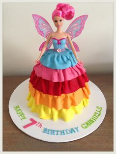Rainbow Fairy Dolly Varden cake