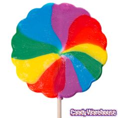 Big Lollipops Candy   Psychedelic Swirl 7-Inch Lollipops: 2-Piece Box