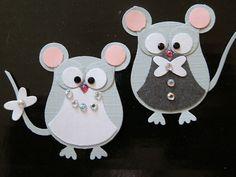 6 Stampin up Brautpaar Mäuse