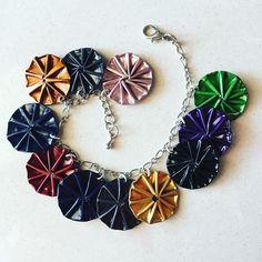 #creazioni #estate #colori #sun #braccialetti #passione #riciclo #alluminio #nespresso #capsule #fantasia #callme #woman #girls #prezioseidee