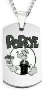 024bd8583e5e Popeye Dog Tag Necklace Popeye The Sailor Man