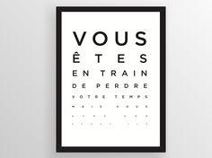 """Poster création graphique, rare et originale """"La Vue"""" by Wallshop"""