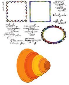 Stamp Set 436 - Thoughtful Frames - Spellbinders Combo Set 1